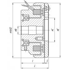 Муфта одноповерхностная  на подшипнике Э1ТМ.ЕСМ 3-120