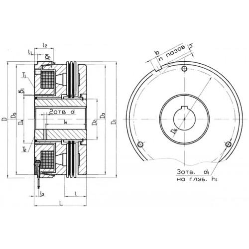 Бесконтактная масляная муфта Э1ТМ 054 от производителя