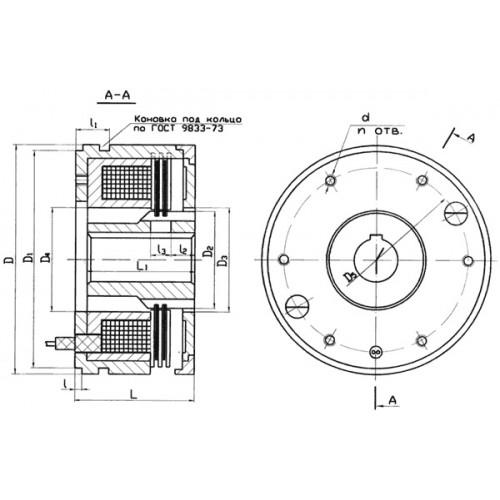 Масляная тормозная муфта Э1Т 066 от производителя