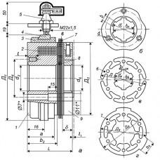 Муфта многодисковая фрикционная ЭМ-12
